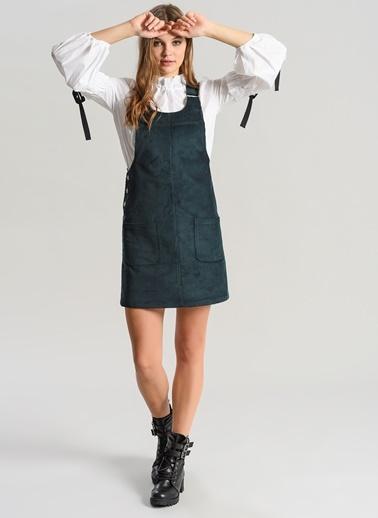 Fitilli Kadife Salopet Elbise-Agenda